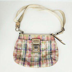 Coach Poppy Madras Sequin Multicolor Crossbody Bag